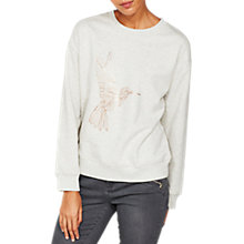 Buy Mint Velvet Hummingbird Long Sleeve Jumper, Grey Online at johnlewis.com