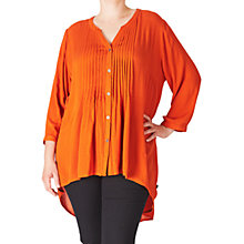 Buy ADIA Crepe Shirt, Orange Rust Online at johnlewis.com