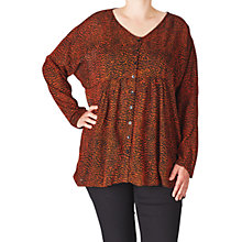 Buy ADIA Printed Blouse, Orange Rust Online at johnlewis.com