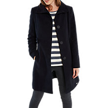 Buy White Stuff Market Place Moleskin Coat, Navy Online at johnlewis.com