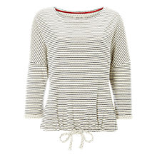 Buy White Stuff Spot Stripe Drawstring Pyjama Top, Calm Cream Online at johnlewis.com