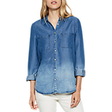 Buy Mint Velvet Ombre Chambray Shirt, Multi Online at johnlewis.com