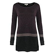 Buy East Sparkle Colour Block Jumper, Multi Online at johnlewis.com