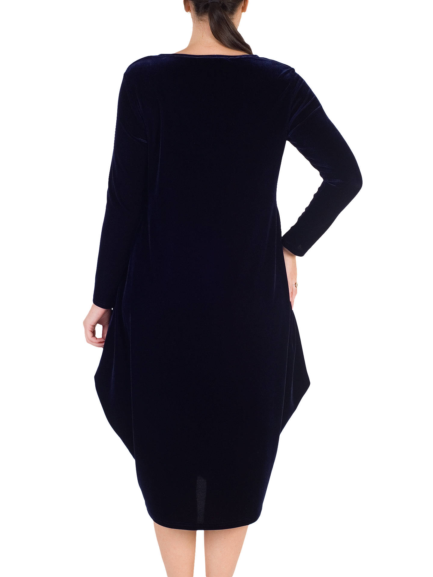 BuyChesca Tuck Detail Velvet Dress, Midnight, 12-14 Online at johnlewis.com