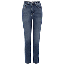 Buy Karen Millen Authentic Wash High Waisted Jeans, Denim Online at johnlewis.com