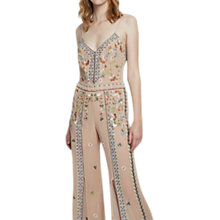 Buy French Connection Bijou Stitch Strappy Jumpsuit, Chantilly Pink/Multi Online at johnlewis.com