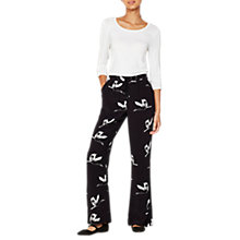 Buy Mint Velvet Polli Print Pyjama Style Trousers, Multi Online at johnlewis.com