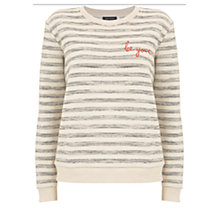 Buy Mint Velvet Be You Striped Sweat Top, Multi Online at johnlewis.com