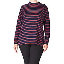 Buy ADIA Striped Roll Neck Jersey Top, Red Merlot Online at johnlewis.com