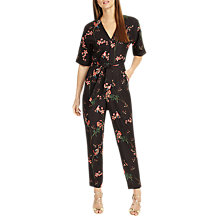 Buy Phase Eight Flora Jumpsuit, Black/Red Online at johnlewis.com