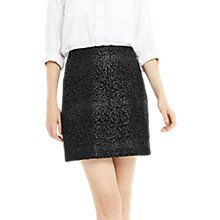 Buy Oasis Animal Popcorn Skirt, Black Online at johnlewis.com