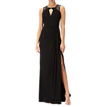 Buy Adrianna Papell Petite Jersey Sleeveless Gown, Black Online at johnlewis.com