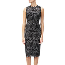 Buy Adrianna Papell Lace Two Tone Sheath Dress, Black/Silver Online at johnlewis.com