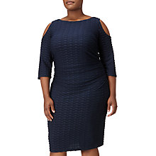 Buy Adrianna Papell Cold Shoulder Fitted Dress, Blue Moon Online at johnlewis.com