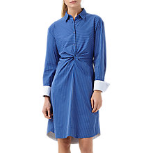 Buy Finery Desmond Stripe Shirt Dress, Blue Online at johnlewis.com