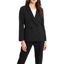 Buy Jaeger Straight Fit Tailored Jacket, Black Online at johnlewis.com