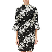 Buy Adrianna Papell Fit and Flare Sheath Dress, Black/Ivory Online at johnlewis.com