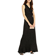 Buy Phase Eight Neona Lurex V Neck Full Length Dress, Black Online at johnlewis.com