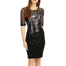 Buy Phase Eight Orlena Ombre Sequin Dress, Black Online at johnlewis.com