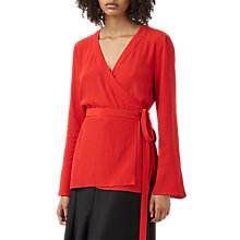 Buy Finery Chesholm Tie Wrap Blouse, Red Online at johnlewis.com