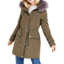 Buy Oasis Buzz Premium Parka, Khaki Online at johnlewis.com
