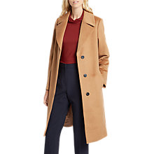 Buy Jaeger A-Line Wool Coat, Camel Online at johnlewis.com