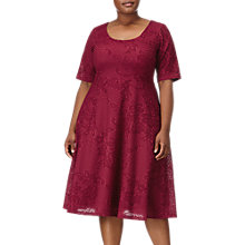 Buy Adrianna Papell Plus Size Fit and Flare Dress, Cardinal Online at johnlewis.com