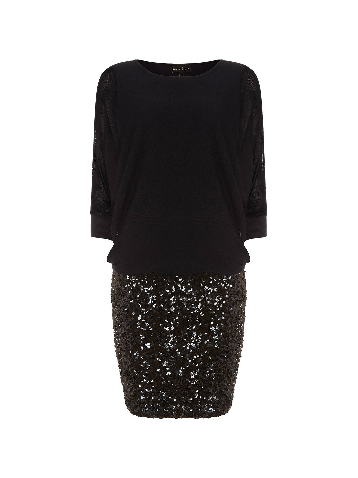 9f821a9c ... Buy Phase Eight Geonna Sequin Skirt Dress, Midnight, 8 Online at  johnlewis.com ...