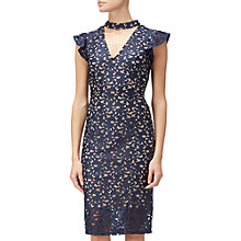 Buy Adrianna Papell Lace Cap Sleeve Sheath Dress, Multi Online at johnlewis.com