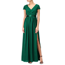 Buy Adrianna Papell Long V-Neck Dress, Evergreen Online at johnlewis.com