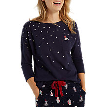 Buy White Stuff Santa Paws T-Shirt, Snoozy Navy Online at johnlewis.com