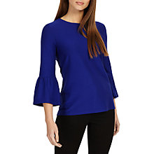 Buy Phase Eight Farah Fluted Sleeve Top Online at johnlewis.com