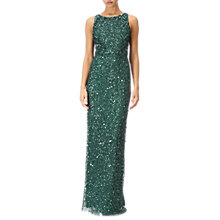 Buy Adrianna Papell Embellished Sleeveless Long Dress, Dusty Emerald Online at johnlewis.com