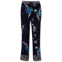 Buy White Stuff Chinoiserie Birds Pyjama Bottoms, Snoozy Navy Online at johnlewis.com