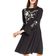 Buy Oasis Kimono Embroidered Mini Dress, Black Online at johnlewis.com