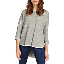 Buy Phase Eight Star Jacquard Megg Knit Jumper, Grey Marl Online at johnlewis.com