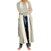 Buy White Stuff Geostar Long Jacquard Robe, Light Grey Online at johnlewis.com