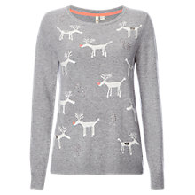 Buy White Stuff Stanley Stag Jumper, Grey Online at johnlewis.com