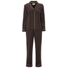 Buy White Stuff Dotty Pyjama Set, Dark Grey Online at johnlewis.com