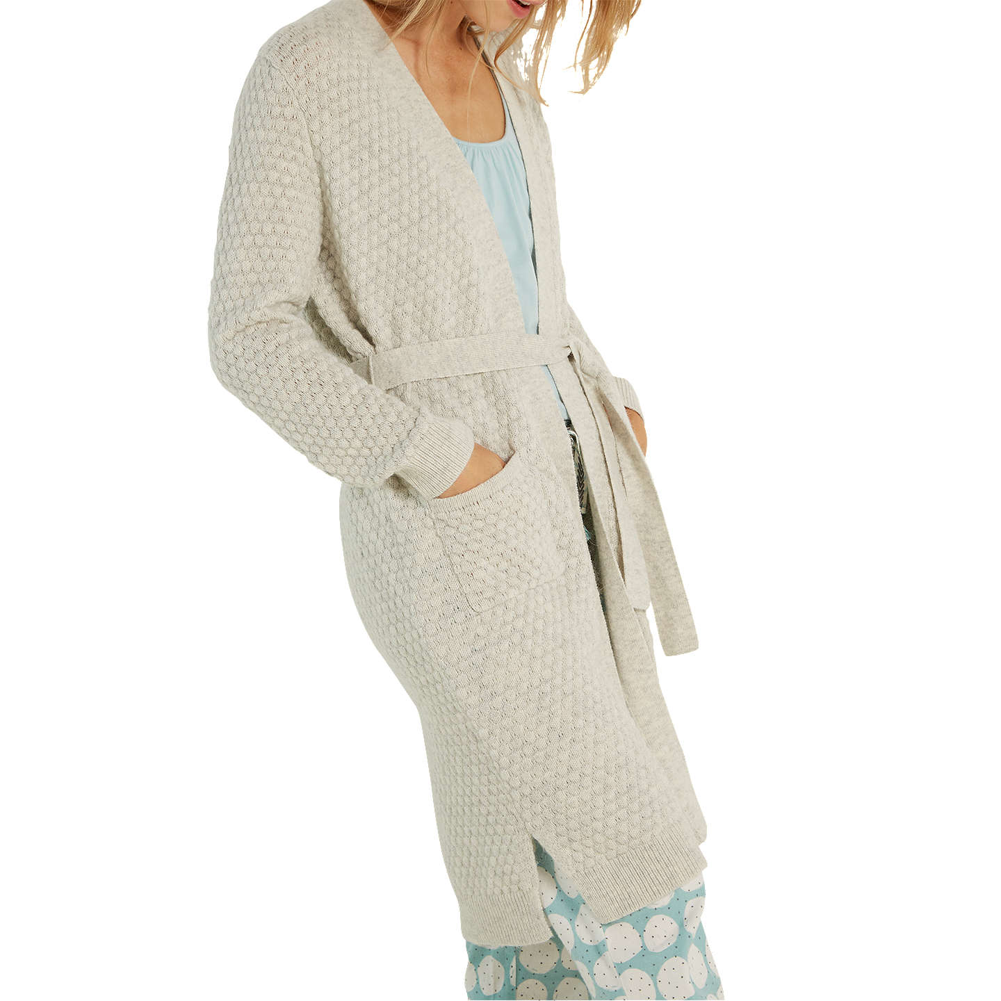 BuyWhite Stuff Cosy Knit Cardigan, Light Grey, S Online at johnlewis.com