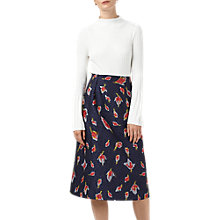 Buy Finery Aston Jacquard Skirt, Stem Roses Online at johnlewis.com