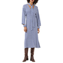 Buy Finery Cheam Striped Jersey Dress, Navy/White Online at johnlewis.com