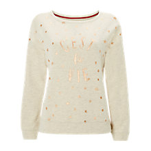 Buy White Stuff C'est La Vie Sweater, Oatmeal/Cream Online at johnlewis.com