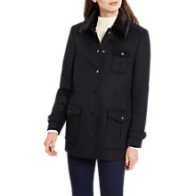 Buy Jaeger Wool Utility Coat, Navy Online at johnlewis.com