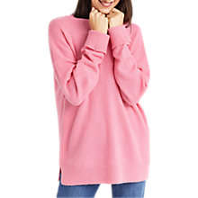 Buy Oasis Oversized Perfect Crew Jumper, Mid Pink Online at johnlewis.com