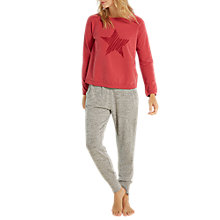 Buy White Stuff Star Stitch Jumper, Spiced Red Online at johnlewis.com