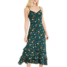 Buy Oasis Rosetti Tiered Maxi Dress, Multi/Green Online at johnlewis.com