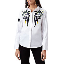 Buy Finery Tapley Embroidered Shirt, White Online at johnlewis.com