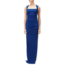 Buy Adrianna Papell Sleeveless Gathered Jersey Gown, Night Flight Online at johnlewis.com