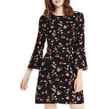 Buy Oasis Ruby Flute Sleeve Dress, Multi Online at johnlewis.com